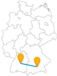 Hoch hinauf oder tief ins Erdreich, die Fahrt im Fernbus zwischen München und Reutlingen wird eine Entdeckungsreise.