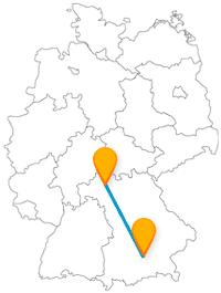 Mit dem Fernbus zwischen München und Schweinfurt folgen Sie den Spuren eines Dichters.