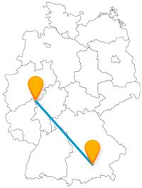 Die Reise im Fernbus zwischen München und Siegen bringt Sie zu aktuellem Spaß- und historischen Arbeitsflair.