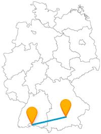 Trubel und Kultur? Oder Ruhe und Natur? Sie entscheiden, in welche Richtung Sie mit dem Fernbus zwischen München und Singen fahren möchten.