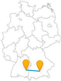 Ob Prachtstraßen erleben oder eine spektakuläre Aussicht, die Reise mit dem Fernbus von München nach Ulm lohnt sich allemal.