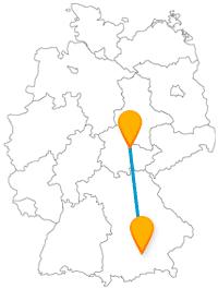 Fahren Sie mit dem Fernbus zwischen München und Weimar, um alten Glanz zu erleben und zwei Dichtern auf der Spur zu sein.