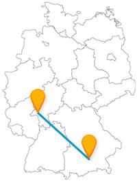 Mit dem Fernbus von München nach Wiesbaden kommen Sie von der größten Kuckucksuhr zu 300.000 Museumsexponaten.