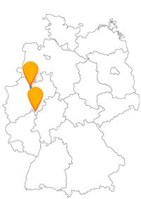 Mit dem Fernbus Münster Siegen wird es entweder historisch oder etwas sportlicher interessant.