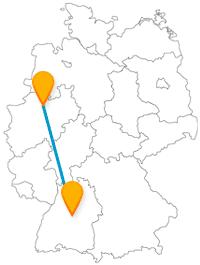 Schauen Sie sich auf Ihrer Fernbusreise zwischen Münster und Stuttgart nicht nur die Porsche-Autos an, sondern auch die astronomische Uhr.