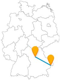 Der Fernbus zwischen Nürnberg und Passau bringt Sie zu abwechslungsreichen Burgen und Festungen.