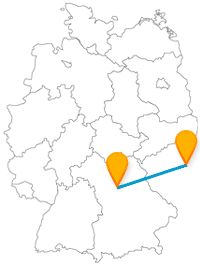 Nürnberg prag entfernung