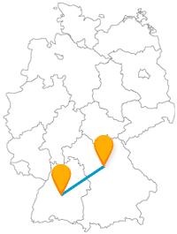 Die Fahrt im Fernbus zwischen Nürnberg und Tübingen ist besonders für Historiker, Künstler und Lyriker interessant.