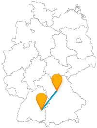 Mit der Fahrt im Fernbus von Nürnberg nach Ulm kann es auch hoch hinausgehen.