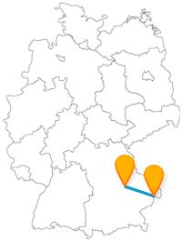 Mit dem Fernbus von Passau nach Regensburg reisen Sie von der Dreiflüssestadt in die Zweiflüssestadt.