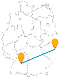 Die Reise über die Grenze mit dem Fernbus zwischen Prag und Stuttgart wird mit vielen Sehenswürdigkeiten belohnt.