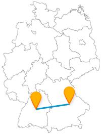 Wer richtig Lust hat auf Baudenkmäler und Schlösser reist am besten mit dem Fernbus zwischen Regensburg und Stuttgart.