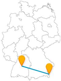 Entdecken Sie auf der Reise im Fernbus zwischen Salzburg und Stuttgart viele Tiere und Pflanzen.