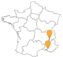 Partir en voyage en bus de Aix-en-Provence à Grenoble