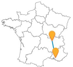Prendre le car de Aix-en-Provence à Lyon pas cher