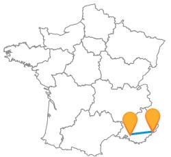 Comparer les bus de Aix-en-Provence à Nice