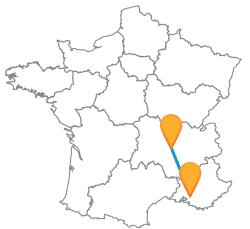 Comparez le prix des billets de bus d'Aix-en-Provence à Saint-Etienne