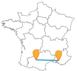 Voyager pas cher en bus de Aix-en-Provence à Toulouse