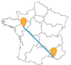 Réservez un billet de bus de Angers à Marseille