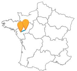 Partir à petit prix en bus de Angers à Nantes