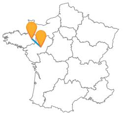 Trouvez et reservez votre billet de bus de Angers à Rennes