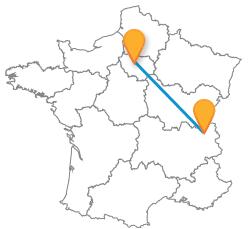 Trouver un trajet pas cher en bus de Annecy à Paris