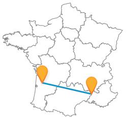 Partir en vacances pas cher en bus de Avignon à Bordeaux