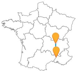 Trouvez un bus de Avignon à Lyon