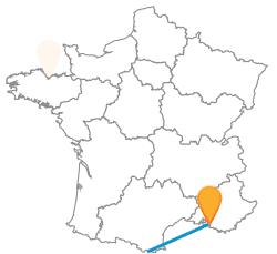 Trouvez un voyage low cost en car de Barcelone à Marseille