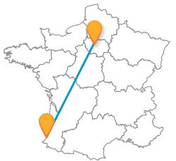 Voyagez en bus de Bayonne à Paris