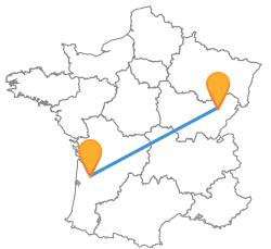 Voyagez en bus de Besançon à Bordeaux low cost