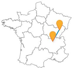 Partir en voyage en bus de Besançon à Lyon