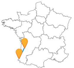 Voyages low cost en car de Biarritz à Bordeaux