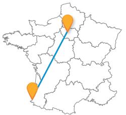 Voyager en bus de Biarritz à Paris
