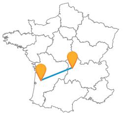 Trouvez votre trajet en bus de Bordeaux à Clermont-Ferrand