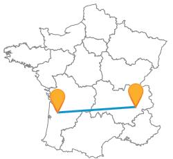 Trouver le meilleur bus de Bordeaux à Grenoble