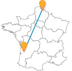 Partir en voyage en bus de Bordeaux à Lille