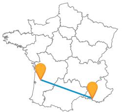 Comparer les voyages en bus de Bordeaux à Marseille