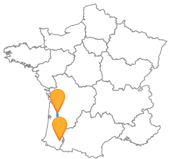 Trouvez vos billets de bus de Bordeaux à Pau