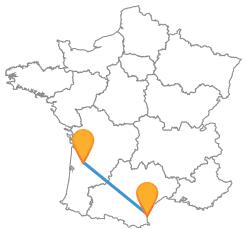 Voyagez pas cher en bus de Bordeaux à Perpignan