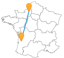 Faire le voyage en car de Bordeaux à Rouen