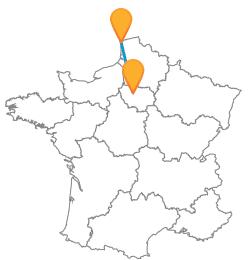 Vacances low cost en bus de Boulogne-sur-mer à Paris