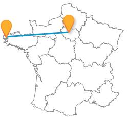 Comparez le prix des billets de bus de Brest à Paris