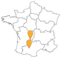 Faites le trajets en bus de Brive-la-Gaillarde à Toulouse