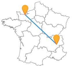 Vacances pas cher en bus de Caen à Grenoble