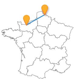 Comparez et trouvez un bus de Caen à Lille pas cher.