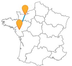 Trouvez et réservez un bus de Caen à Nantes