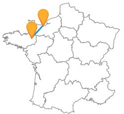 Trouver un trajet en bus de Caen à Rennes