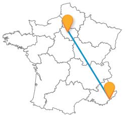 Comparez les voyages en bus de Cannes à Paris