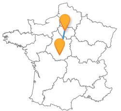 Partez en voyage en bus de Chateauroux à Paris pas cher